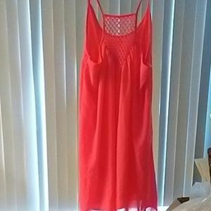 Size large Coral tank sundress or cover-up